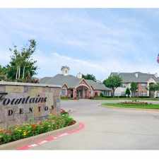 Rental info for Fountains of Denton in the 76209 area