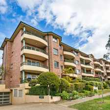 Rental info for TWO BEDROOM APARTMENT LOCATED IN POPULAR CUL-DE-SAC in the Caringbah area