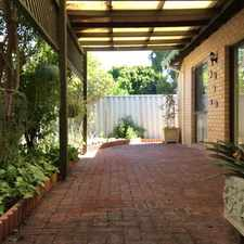 Rental info for Private Nedlands Villa