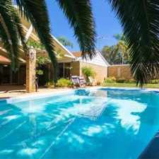 Rental info for FAMILY HOME WITH A POOL in the Floreat area
