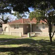 Rental info for VERY HOMELY 3 BED - 2 LIVING AREAS WITH AIR COND