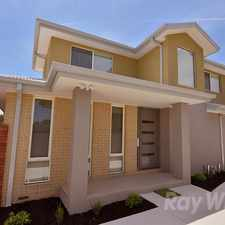 Rental info for A beautiful 2 year old 3 bedroom townhouse with study in the Bayswater North area