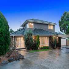 Rental info for LARGE FAMILY LIVING IN THE HEART OF MOOROOLBARK
