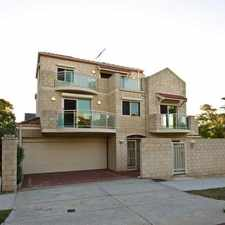 Rental info for BEAUTIFUL SOUTH PERTH LIVING