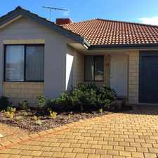 Rental info for QUIET LOCATION CLOSE TO PARKLANDS. in the Perth area