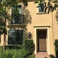 Rental info for $3295 3 bedroom Townhouse in Irvine in the Orchard Hills area