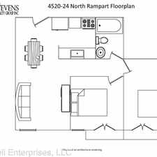 Rental info for 4520-4524 N Rampart St in the Bywater area