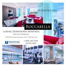 Rental info for Roccabella in the Ville-Marie area