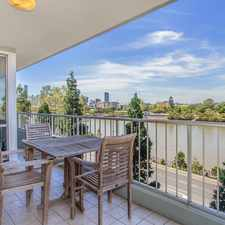 Rental info for Fully Furnished with River Views & Resort Style Complex in the West End area
