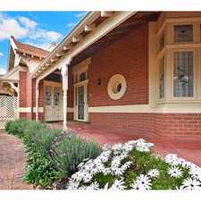 Rental info for EAST FREMANTLE GEM in the East Fremantle area