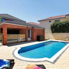 Rental info for CONTEMPORAY RESIDENCE WITH BELOW GROUND POOL IN IDEAL LOCATION! in the Wembley Downs area