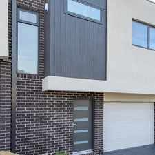 Rental info for NEAR NEW 2 STOREY TOWNHOUSE in the Melbourne area