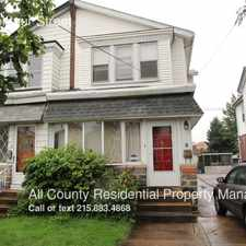 Rental info for 7253 Montour Street in the Fox Chase - Burholme area
