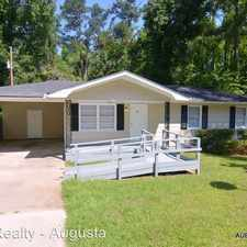 Rental info for 3493 Morgan Road in the Augusta-Richmond County area