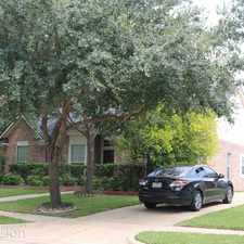 Rental info for 3914 Double Trail Ct in the Missouri City area