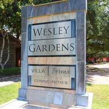 Rental info for Wesley Gardens in the Houston area