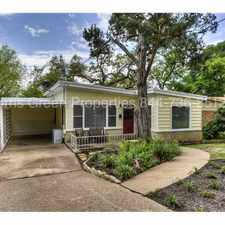 Rental info for 2111 W 10th St - Deep Eddy Charmer in the Austin area
