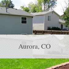 Rental info for Aurora Home For Rent. Parking Available! in the Aurora Highlands area