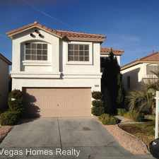 Rental info for 10163 Cupids Dart St in the Paradise area
