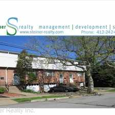 Rental info for 1707 Nevada Street in the Pittsburgh area
