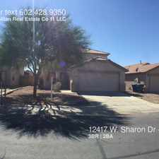 Rental info for 12417 W. Sharon Dr in the El Mirage area