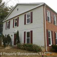 Rental info for 4529 Canary Court in the Dale City area