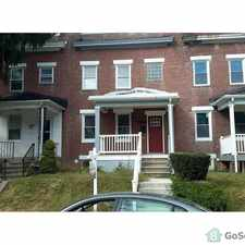 Rental info for Beautiful townhouse in East Baltimore. All amenities. in the Waverly area