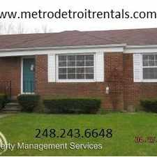 Rental info for 915 Cleophus Pkwy in the 48146 area
