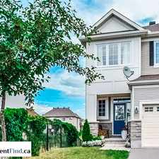 Rental info for 608 Pepperville Crescent in the Kanata South area