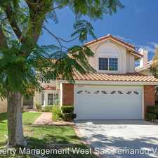 Rental info for 12035 Falcon Ridge Way in the Porter Ranch area