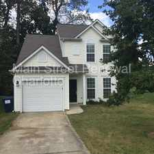 Rental info for Centrally Located Home In Charlotte in the Sunset Road area