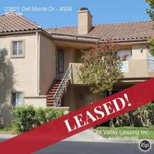 Rental info for 23621 Del Monte Dr in the Valencia North Valley area