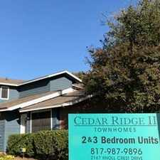 Rental info for Cedar Ridge II Townhomes in the Arlington area