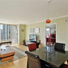 Rental info for BRIGHT AND OPEN ONE BEDROOM WITH VIEWS AT THE SUTTERFIELD