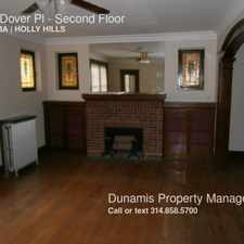 Rental info for 3666 Dover Pl in the Boulevard Heights area