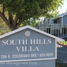 Rental info for 726 East Colorado Ave in the 91741 area