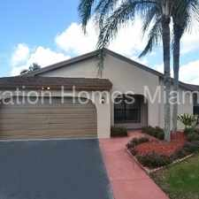 Rental info for 3/2 Home with Pool in Cooper City in the Cooper City area