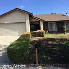 Rental info for 216 Calle Campana in the Walnut area