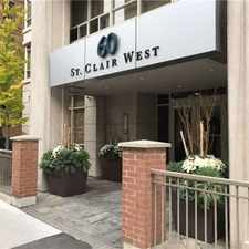 Rental info for 60 Saint Clair Avenue West #507 in the Yonge-St.Clair area