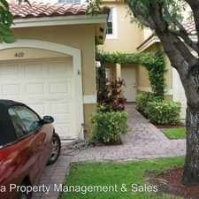 Rental info for 4119 Crystal Lake Dr in the Deerfield Beach area