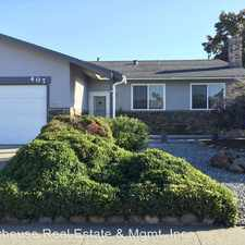 Rental info for 407 Marla Dr in the American Canyon area