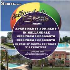 Rental info for $1350 2 bedroom Apartment in Hallandale Beach in the Hallandale Beach area