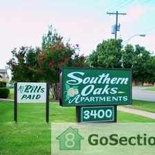 Rental info for 2 Bed 1 Bath ALL BILLS PAID! @ Southern Oaks Apartments. Available now! in the Oklahoma City area