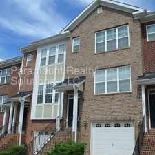 Rental info for Gorgeous townhome in Cary Park! in the Cary area