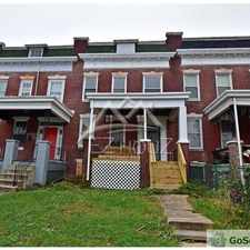 Rental info for 3709 Edmondson Ave, Baltimore, MD in the Baltimore area