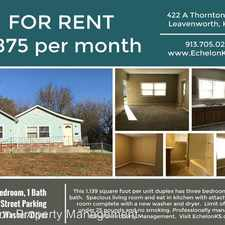 Rental info for 422 Thornton - Unit A