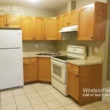 Rental info for 1234 High St. in the Windsor area