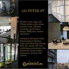 Rental info for 125 Peter Street in the Kensington-Chinatown area