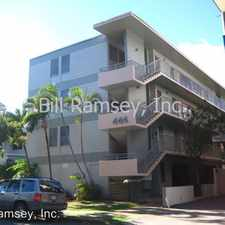 Rental info for 444 NAMAHANA STREET in the Mccully - Moiliili area
