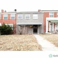 Rental info for Nice Govan neighborhood 3 bd 1.5 bath townhouse in the Baltimore area
